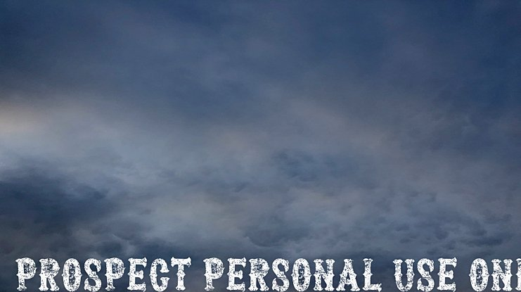 Prospect PERSONAL USE ONLY Font