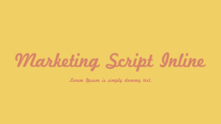 Marketing Script Inline Font Family