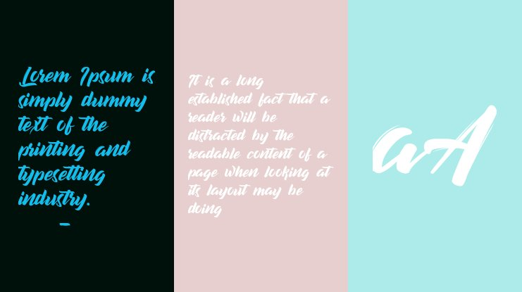 decalled script Font
