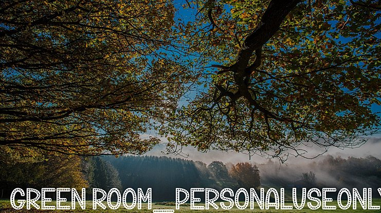 Green Room_PersonalUseOnly Font