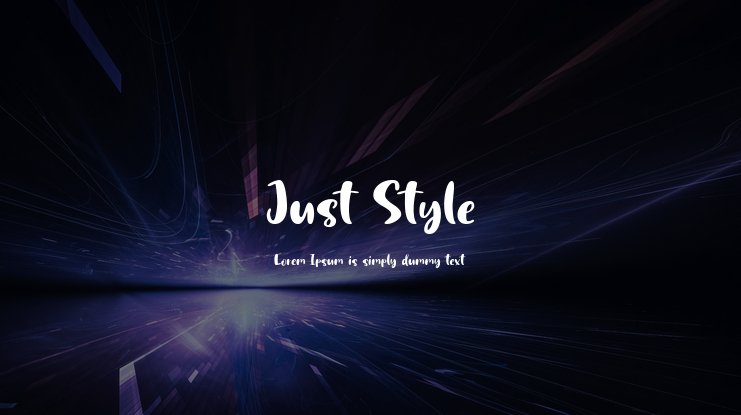 Just Style Font