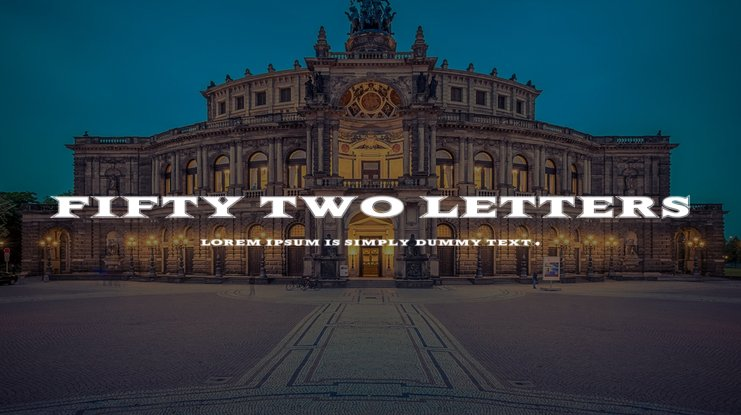 Fifty Two Letters Font