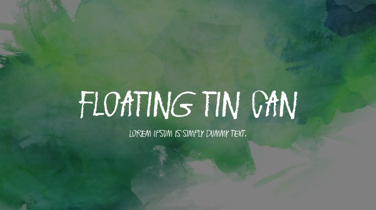 Floating tin can Font