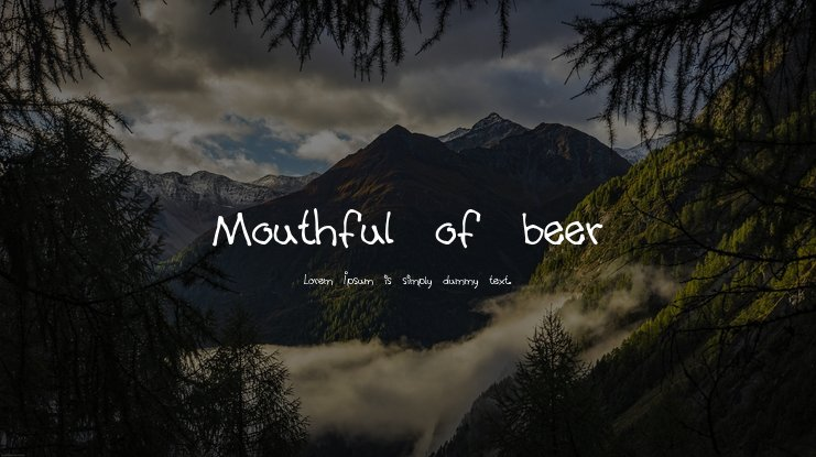 Mouthful of beer Font