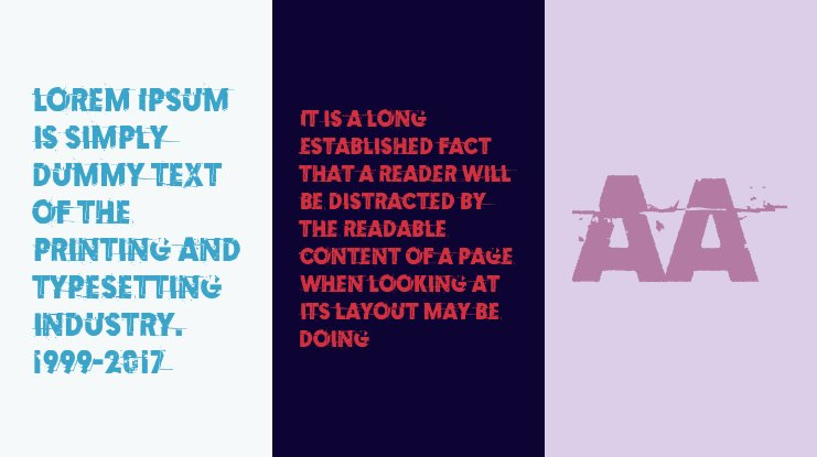 Examples of erosion Font