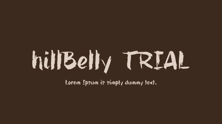 hillBelly_TRIAL Font