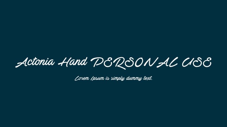 Actonia Hand PERSONAL USE Font Family