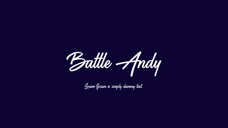 Battle Andy Font Family