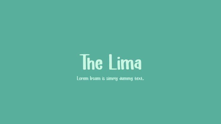 The Lima Font