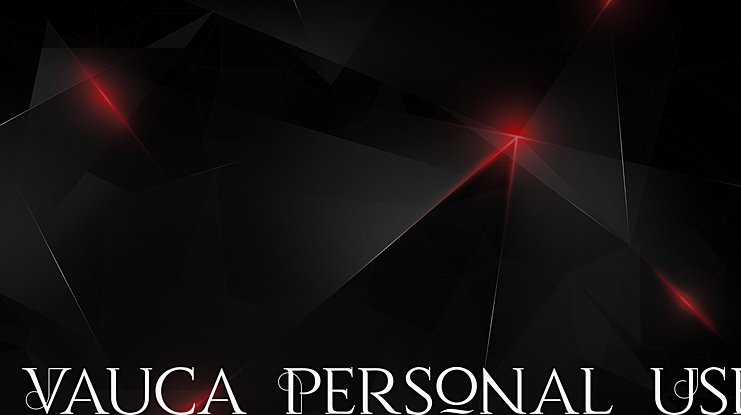 Vauca Personal Use Font
