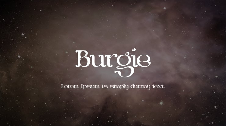 Burgie Font Family