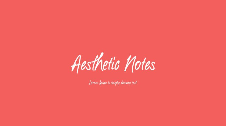 Aesthetic Notes Font