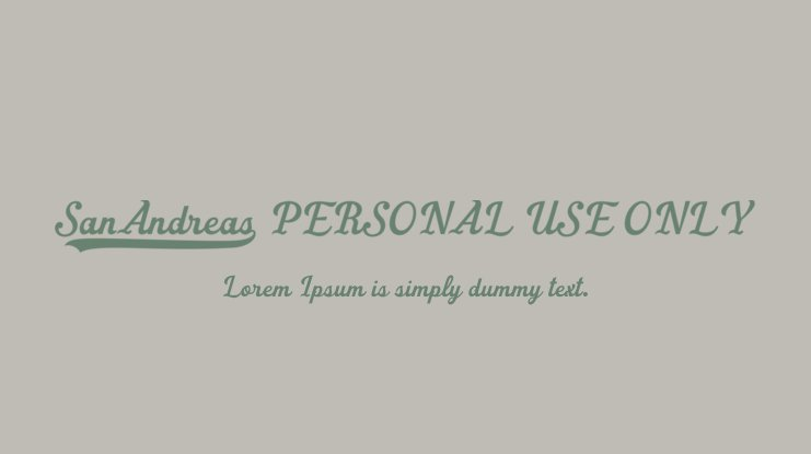 San Andreas PERSONAL USE ONLY Font