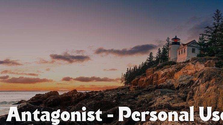 Antagonist - Personal Use Font