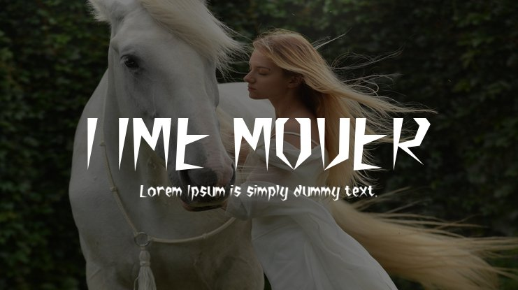 TIME MOVER Font