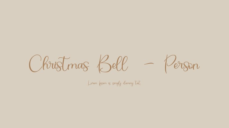 Christmas Bell  - Person Font