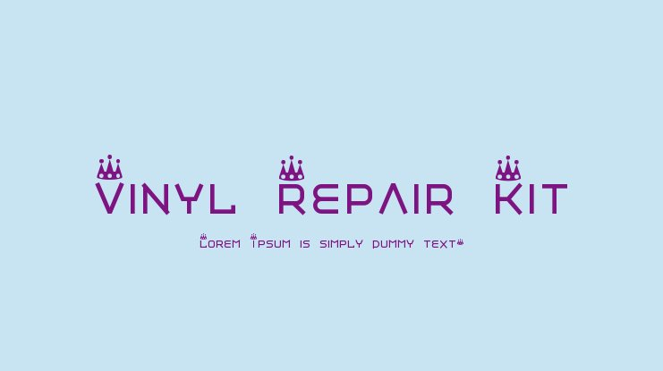 Vinyl Repair Kit Font