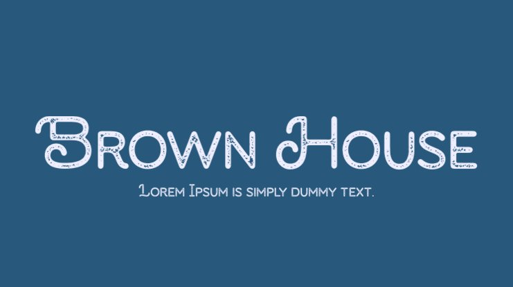 Brown House Font