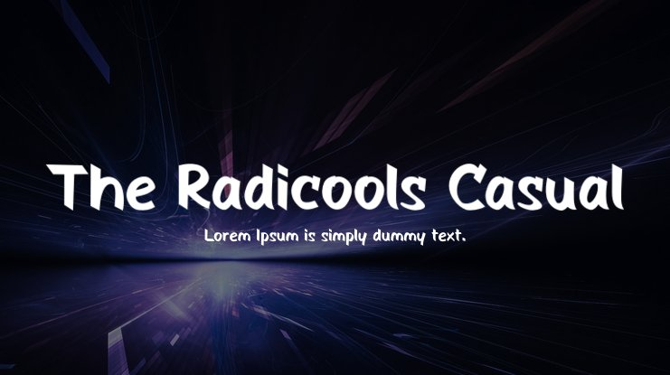The Radicools Casual Font Family