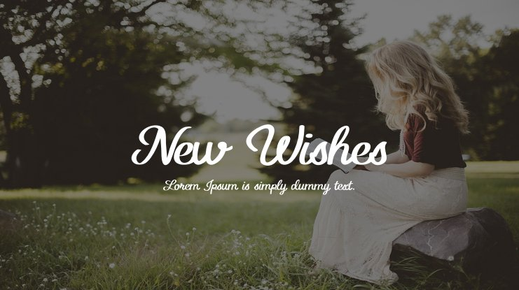 New Wishes Font