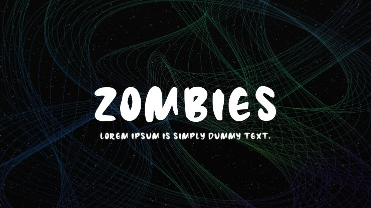 Zombies Font