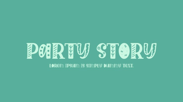 Party Story Font