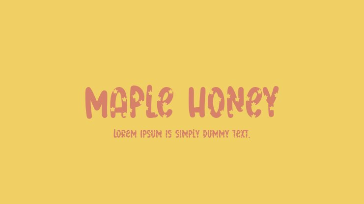 Maple Honey Font