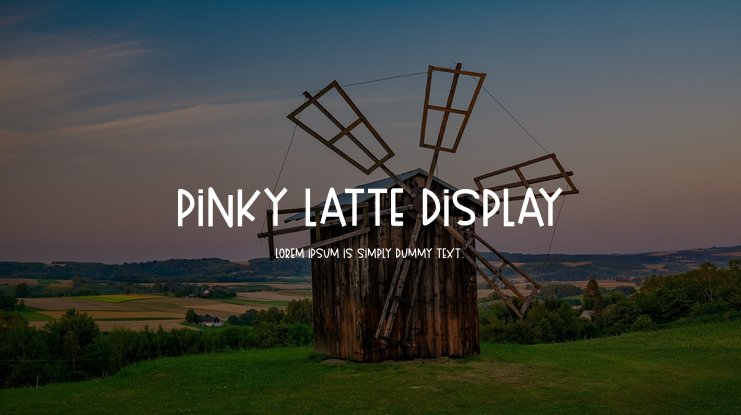 Pinky Latte Display Font Family