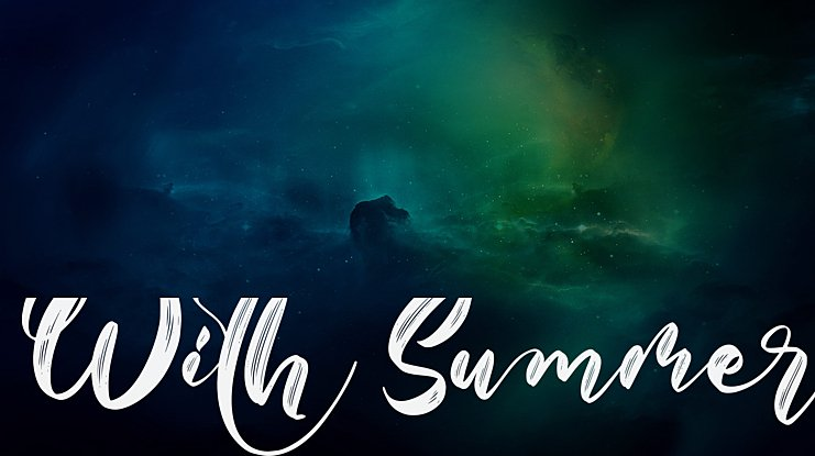 With Summer Font Family