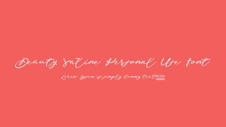 Beauty Satine Personal Use Font
