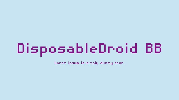 DisposableDroid BB Font Family