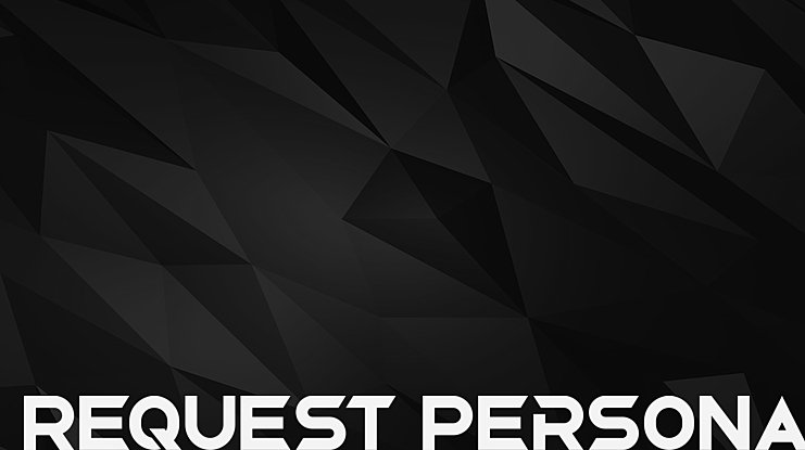 Request Personal Use Font