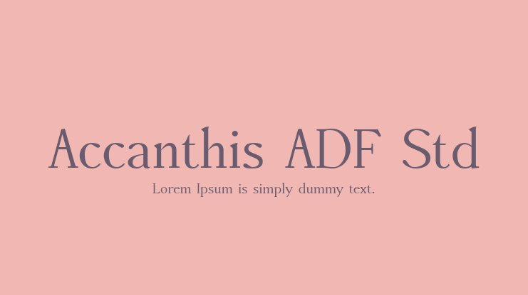 Accanthis ADF Std Font Family