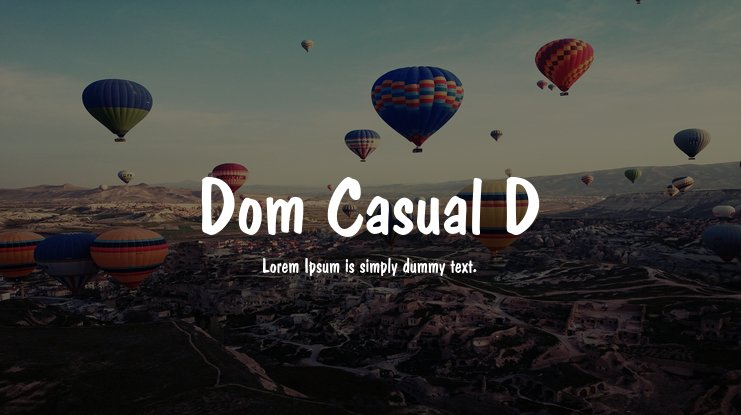 Dom Casual D Font Family