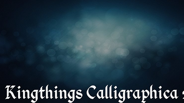 Kingthings Calligraphica 2 Font Family