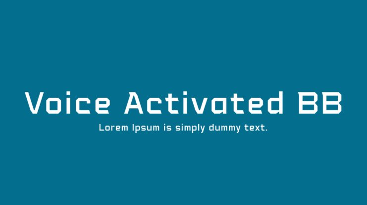 Voice Activated BB Font Family