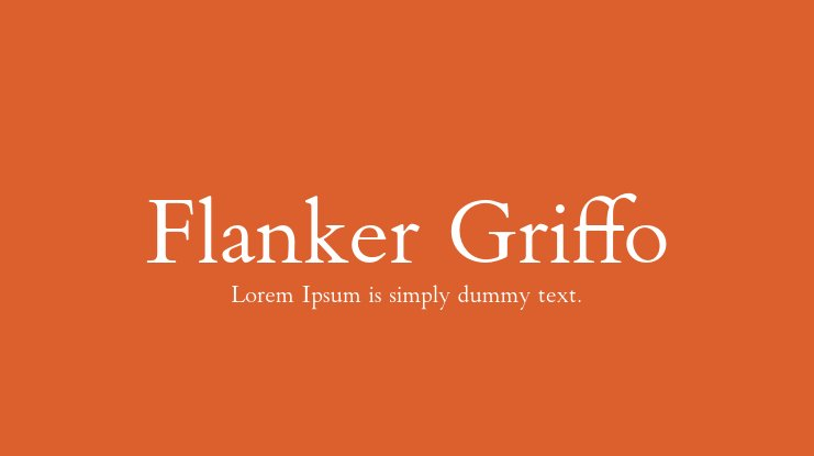 Flanker Griffo Font Family