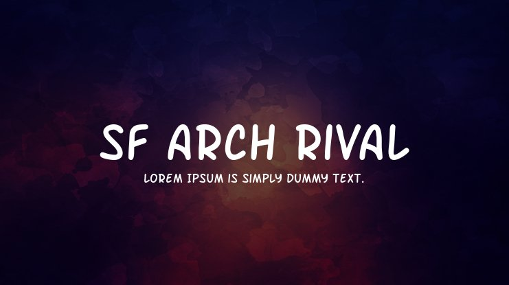 SF Arch Rival Font Family