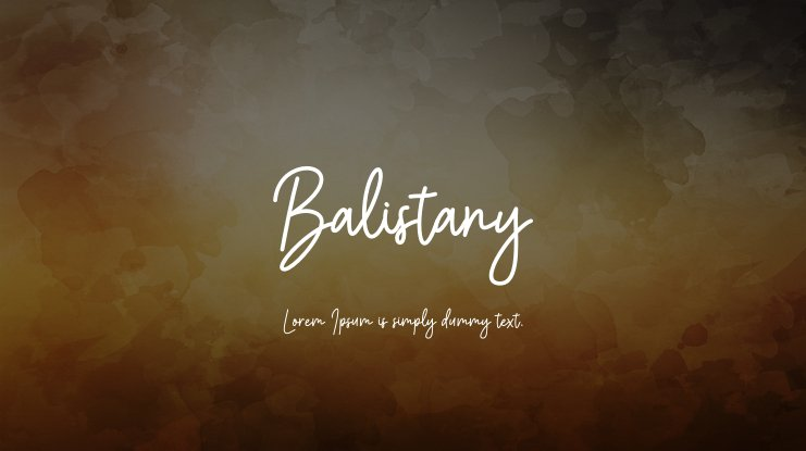 Balistany Font