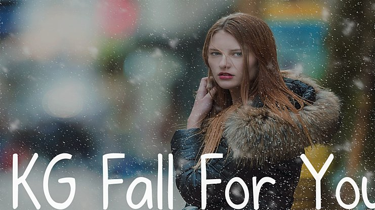 KG Fall For You Font Family