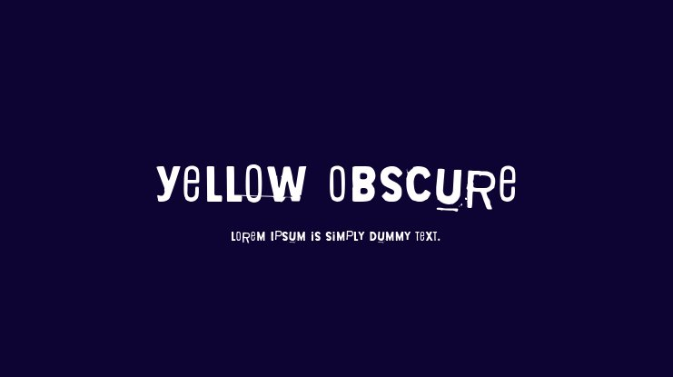Yellow Obscure Font