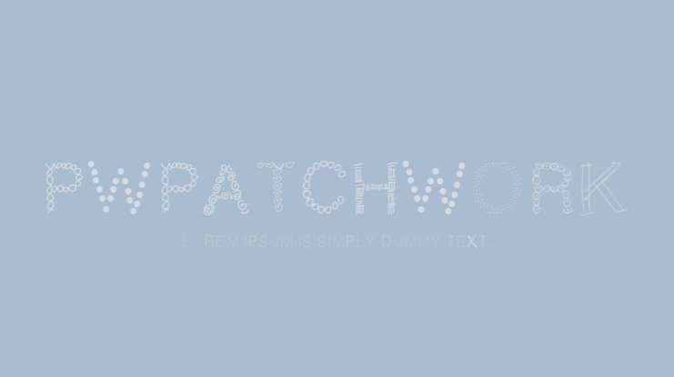 PWPatchwork Font