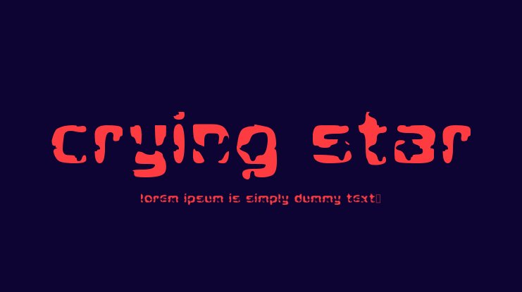 Crying Star Font
