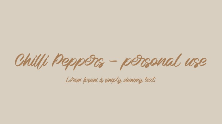 Chilli Peppers - personal use Font