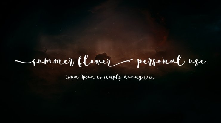 summer flower- personal use Font