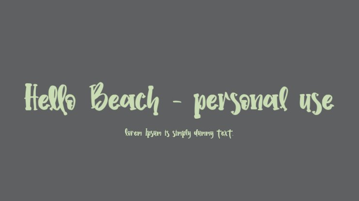 Hello Beach - personal use Font