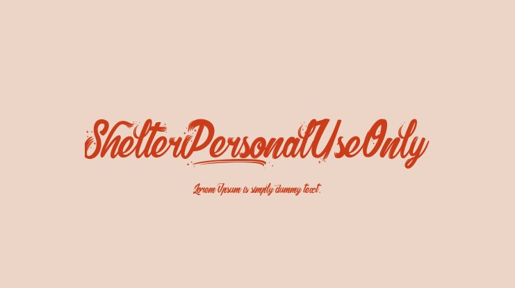 Shelter_PersonalUseOnly Font