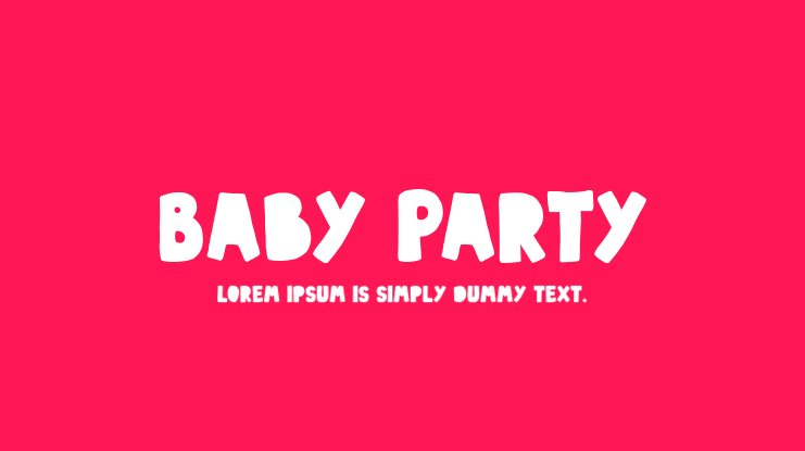 Baby Party Font