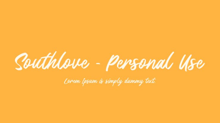Southlove - Personal Use Font