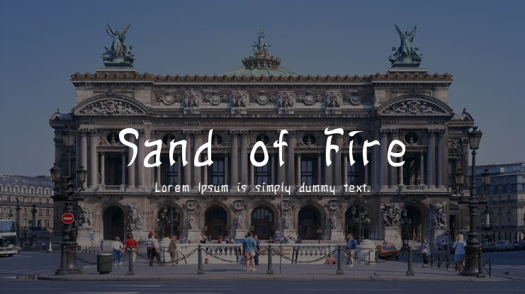 Sand of Fire Font